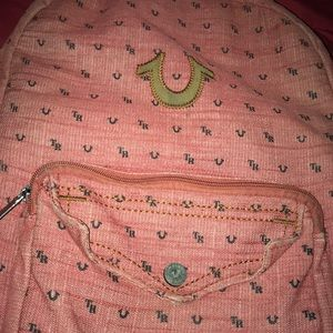 True Religion BookBag red